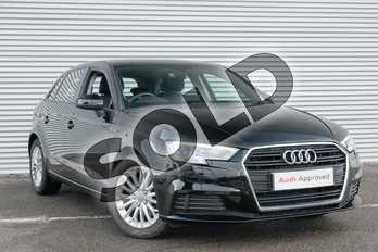 Audi A3 1.6 TDI SE Technik 5dr in Brilliant Black at Coventry Audi