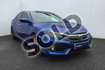 Honda Civic 1.5 VTEC Turbo Prestige 5dr CVT in Brilliant Sporty Blue at Listers Honda Solihull