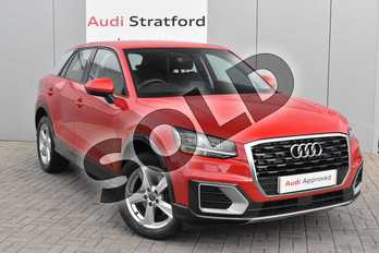 Audi Q2 1.6 TDI Sport 5dr in Tango Red Metallic at Stratford Audi