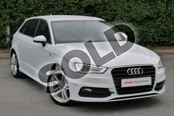Audi A3 1.4 TFSI 150 S Line 5dr in Glacier White, metallic at Worcester Audi
