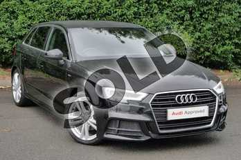 Audi A3 1.4 TFSI S Line 5dr S Tronic in Myth Black Metallic at Worcester Audi