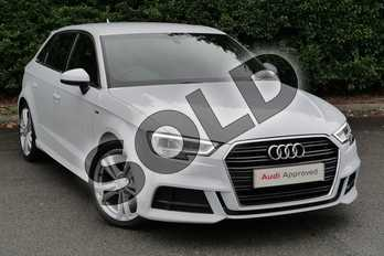 Audi A3 1.5 TFSI S Line 5dr S Tronic in Glacier White Metallic at Worcester Audi