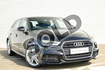 Audi A3 1.4 TFSI S Line 5dr in Myth Black Metallic at Coventry Audi