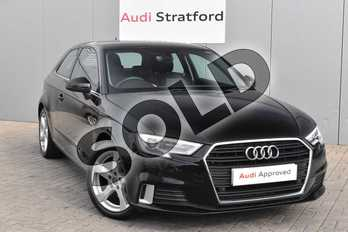 Audi A3 1.5 TFSI Sport 3dr in Myth Black Metallic at Stratford Audi
