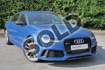 Audi RS 7 4.0T FSI V8 Quattro RS 7 Performance 5dr Tip Auto in Ascari Blue Metallic at Worcester Audi