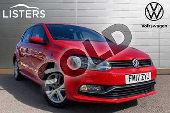 Volkswagen Polo 1.4 TDI 75 Match Edition 5dr in Flash Red at Listers Volkswagen Loughborough