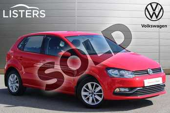 Volkswagen Polo 1.2 TSI SE 5dr in Flash Red at Listers Volkswagen Nuneaton