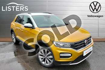 Volkswagen T-Roc 1.0 TSI Design 5dr in Tumeric Yellow at Listers Volkswagen Worcester