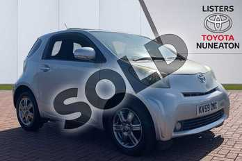 Toyota iQ 1.0 VVT-i 2 3dr in Silver at Listers Toyota Nuneaton