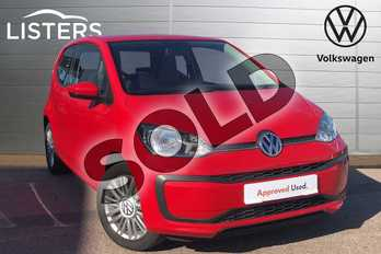 Volkswagen Up 1.0 Move Up 3dr in Tornado Red at Listers Volkswagen Loughborough