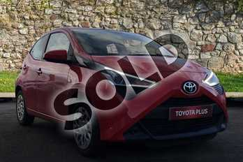 Toyota AYGO 1.0 VVT-i X-Play 5dr in Red Pop at Listers Toyota Grantham