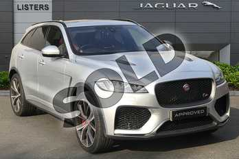 Jaguar F-PACE 5.0 Supercharged V8 SVR 5dr Auto AWD in Indus Silver at Listers Jaguar Droitwich