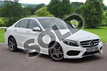 Mercedes-Benz C Class C220d AMG Line Premium 4dr 9G-Tronic in Polar White at Mercedes-Benz of Grimsby