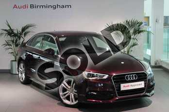 Audi A3 2.0 TDI S Line 4dr in Shiraz Red, metallic at Birmingham Audi