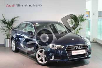 Audi A3 1.4 TFSI Sport 4dr in Cosmos blue, metallic at Birmingham Audi