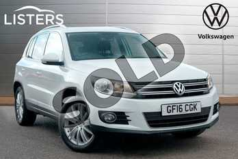 Volkswagen Tiguan 2.0 TDI BlueMotion Tech Match Edition 150 5dr 2WD in Pure White at Listers Volkswagen Leamington Spa
