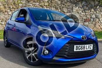 Toyota Yaris 1.5 VVT-i Icon Tech 5dr in Nebula Blue at Listers Toyota Coventry