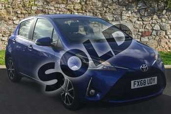 Toyota Yaris 1.5 VVT-i Icon Tech 5dr CVT in Nebula Blue at Listers Toyota Grantham