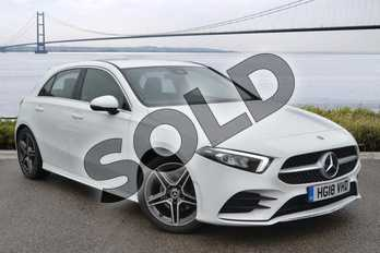 Mercedes-Benz A Class A200 AMG Line 5dr Auto in polar white at Mercedes-Benz of Hull