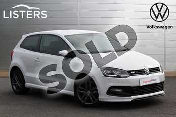 Volkswagen Polo 1.2 TSI R Line 3dr in Pure white at Listers Volkswagen Nuneaton
