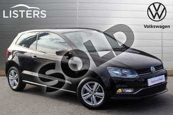 Volkswagen Polo 1.0 75 Match 3dr in Flat Black at Listers Volkswagen Nuneaton