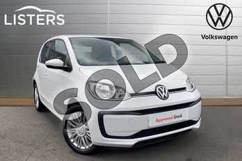 Volkswagen Up 1.0 Move Up 5dr in Pure White at Listers Volkswagen Worcester