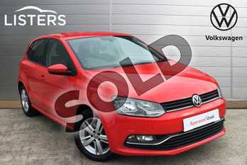 Volkswagen Polo 1.0 Match Edition 5dr in Flash Red at Listers Volkswagen Loughborough