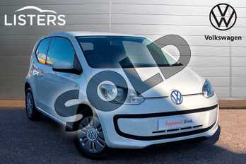 Volkswagen Up 1.0 Move Up 3dr in Pure White at Listers Volkswagen Loughborough