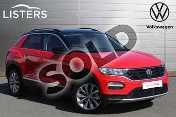 Volkswagen T-Roc 1.0 TSI Design 5dr in Flash Red at Listers Volkswagen Nuneaton