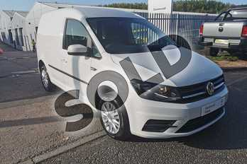 Volkswagen Caddy 2.0 TDI BlueMotion Tech 102PS Trendline (AC) Van in Candy White at Listers Volkswagen Van Centre Worcestershire