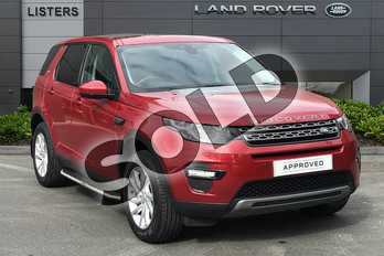 Land Rover Discovery Sport 2.0 TD4 180 SE Tech 5dr Auto in Firenze Red at Listers Land Rover Droitwich