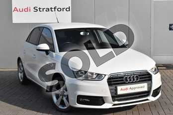 Audi A1 1.4 TFSI Sport 5dr in Shell White at Stratford Audi