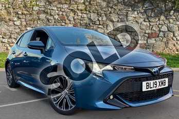 Toyota Corolla 1.8 VVT-i Hybrid Design 5dr CVT in Blue at Listers Toyota Coventry