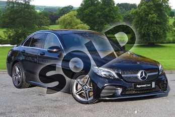 Mercedes-Benz C Class C300d AMG Line Premium 4dr 9G-Tronic in obsidian black metallic at Mercedes-Benz of Grimsby