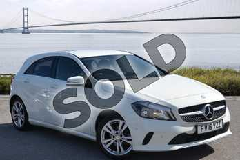 Mercedes-Benz A Class A180d Sport Executive 5dr Auto in Cirrus White at Mercedes-Benz of Hull