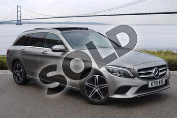 Mercedes-Benz C Class C220d Sport Premium Plus 5dr 9G-Tronic in Mojave Silver Metallic at Mercedes-Benz of Hull