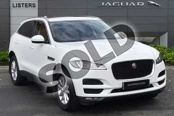 Jaguar F-PACE 2.0 i4 Diesel (180PS) Prestige AWD in Fuji White at Listers Jaguar Droitwich