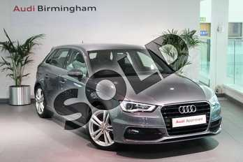 Audi A3 1.4 TFSI 125 S Line 5dr S Tronic (Nav) in Monsoon Grey Metallic at Birmingham Audi