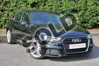 Audi A3 1.4 TFSI S Line 5dr in Brilliant Black at Worcester Audi