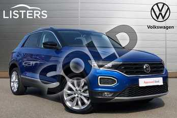 Volkswagen T-Roc 1.5 TSI EVO SEL 5dr in Ravenna Blue Metallic at Listers Volkswagen Coventry