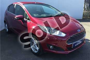 Ford Fiesta 1.0 EcoBoost Zetec 5dr in Special pearl - Hot Magenta at Listers U Solihull
