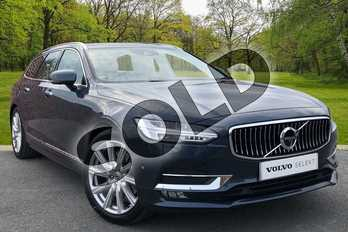 Volvo V90 2.0 D5 Inscription Plus 5dr AWD Geartronic in Denim Blue at Listers Volvo Worcester