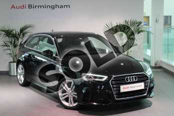 Audi A3 1.4 TFSI S Line 3dr in Myth Black Metallic at Birmingham Audi