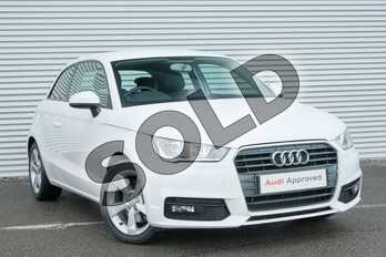 Audi A1 1.6 TDI Sport 3dr in Shell White at Coventry Audi