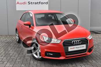 Audi A1 1.4 TFSI Sport 3dr in Misano Red Pearlescent at Stratford Audi