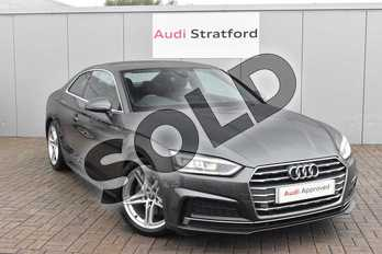 Audi A5 2.0 TDI S Line 2dr in Daytona Grey Pearlescent at Stratford Audi