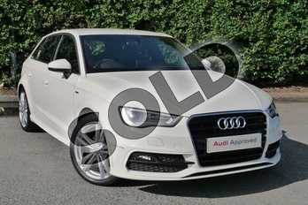 Audi A3 1.6 TDI 110 S Line 5dr in Amalfi White at Worcester Audi
