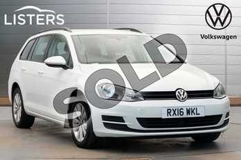 Volkswagen Golf 1.6 TDI 110 SE 5dr in Pure White at Listers Volkswagen Worcester