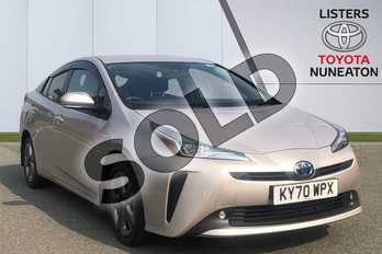 Toyota Prius 1.8 VVTi Business Edition Plus 5dr CVT AWD in Silver at Listers Toyota Nuneaton