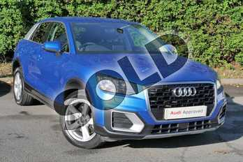 Audi Q2 1.4 TFSI Sport 5dr in Ara Blue Crystal Effect at Worcester Audi